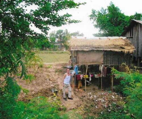 Familienhütte in Kambodscha