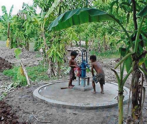 Eine Pumpanlage für das Kinderhaus